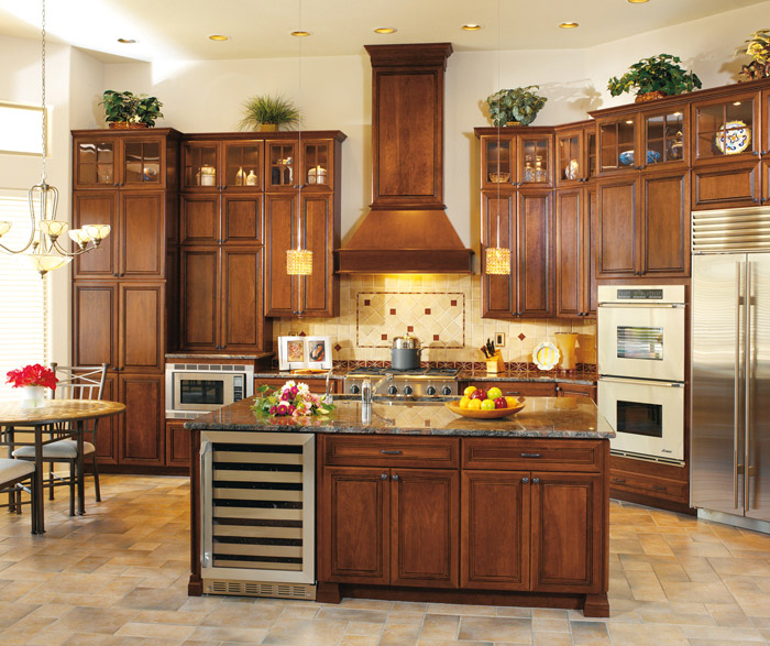Cherry Cabinets in a Traditional Kitchen  Decora