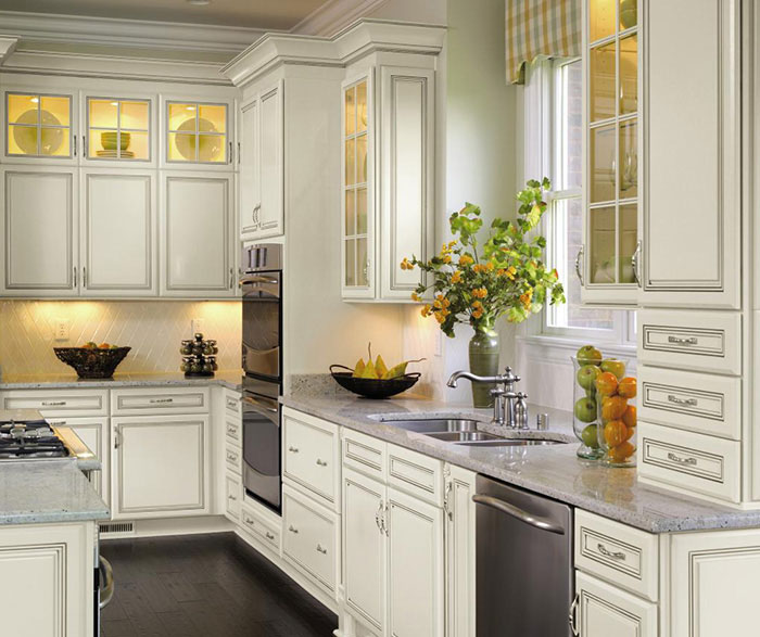 off white kitchen cabinets cookware with glaze decora cabinetry by