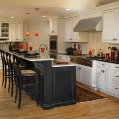 Kitchen Island Cabinet Cabinets Online Design Off White With Black Decora By Cabinetry