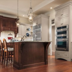 Cherry Kitchen Island Corner Cabinet Painted Maple Cabinets And Decora With A By Cabinetry