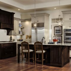 Cherry Kitchen Island Ventilation Painted Maple Cabinets And Decora With A By Cabinetry