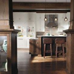 Rustic Kitchen Hardware Sink Faucet Repair Quartersawn Oak Cabinets In - Decora