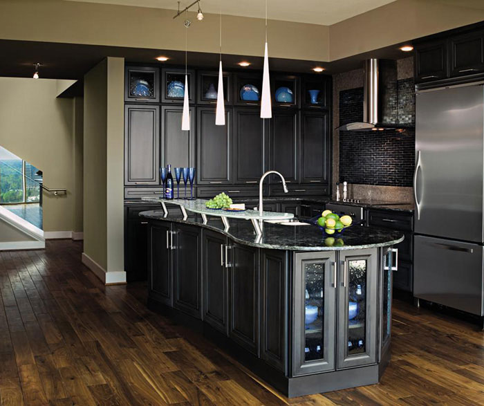 gray kitchen cabinets contractor nj dark grey decora cabinetry by