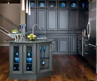 Dark Grey Kitchen Cabinets - Decora Cabinetry