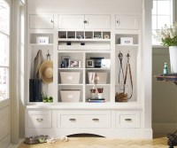 White Entryway Cabinets - Decora Cabinetry