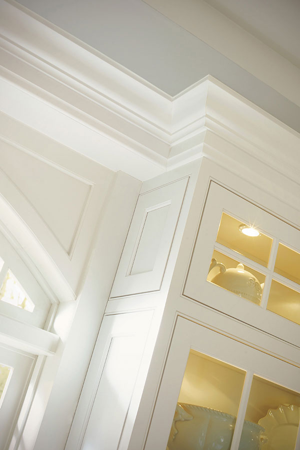 white kitchen cabinets ideas outdoor frame stacked crown moulding - decora cabinetry