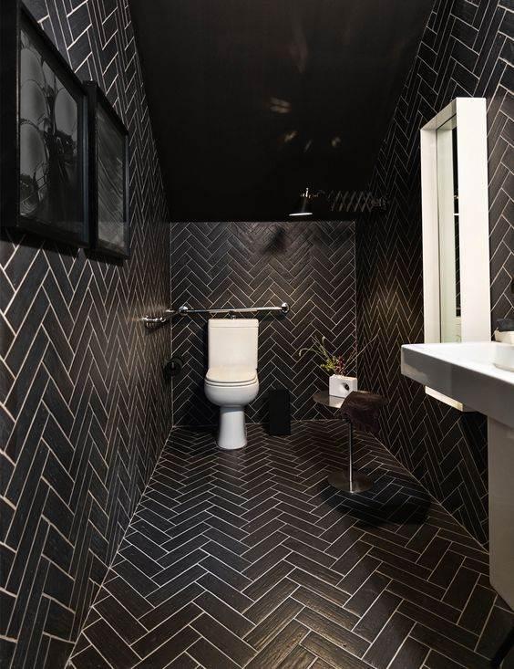 Banheiros com Piso Preto  Estilo e Elegncia  Decorao de Casa