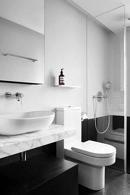 Banheiros com Piso Preto  Estilo e Elegncia  Decorao