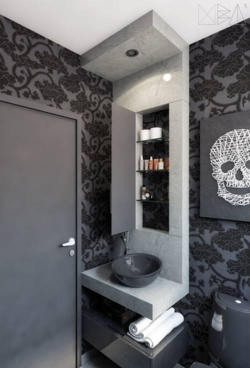 Papel de Parede para Banheiro 50 Modelos Diferentes