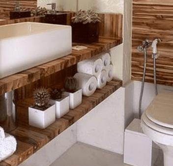 17 ideias para decorar seu banheiro e lavabo com flores ou plantas
