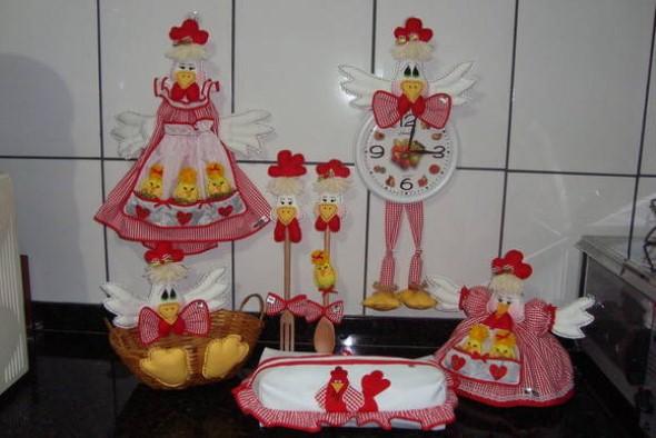 Decorar cozinha com galinhas de artesanato 16 enfeites
