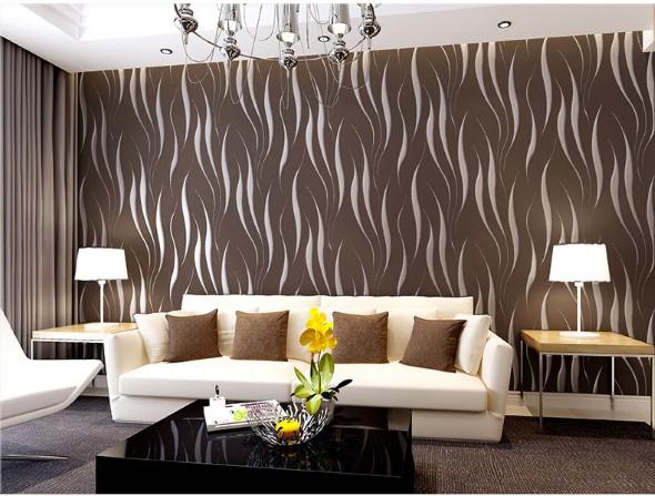 18 modelos de como decorar a sala usando parede colorida