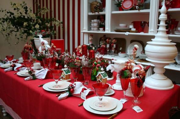 24 idias de como decorar a mesa de Natal