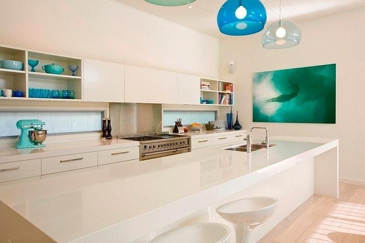 cozinha com balcao ilha casa de praia