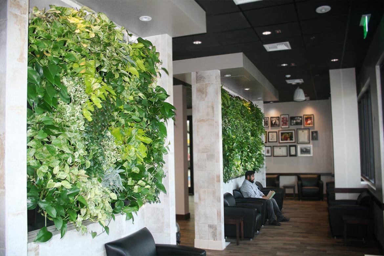 jardim vertical no escritório