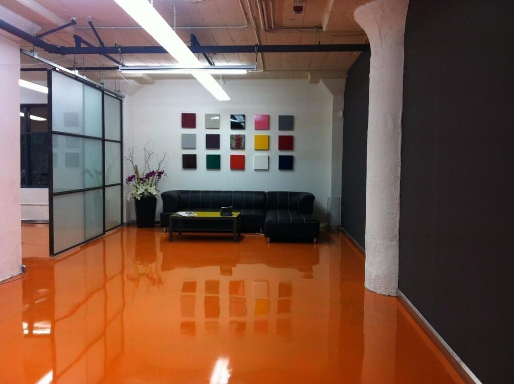 piso de resina epóxi