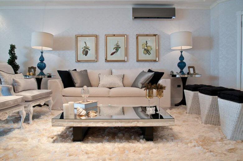 sofá de linho para sala