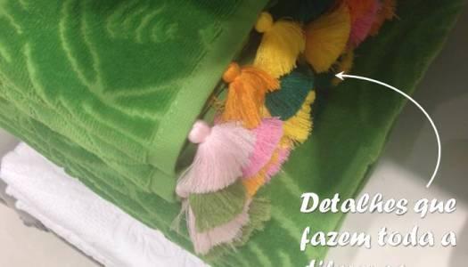 para fazer : toalha com pingente