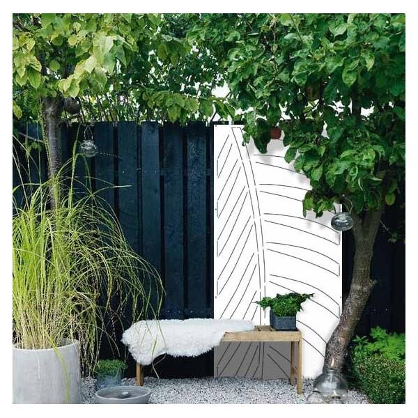 panneau acier deco exterieur panneau decor brise vue corten jardin