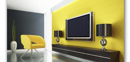 Televisores en la pared