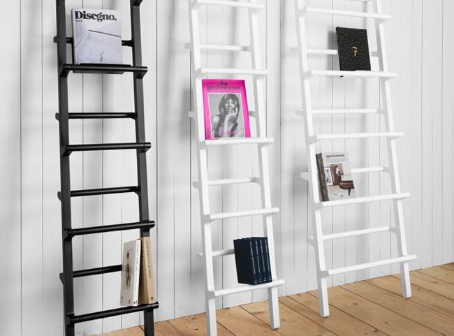 Verso una escalera de mano convertida en estanter a - Estanteria escalera casa ...