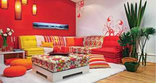 Qué cojines usar en un sofá de color rojo
