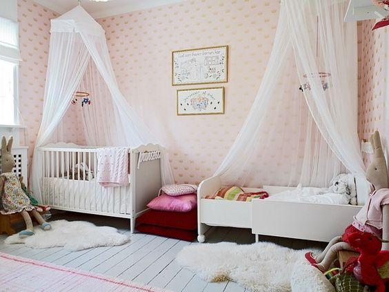 Habitaciones compartidas por beb y hermano mayor