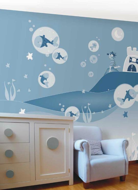 Murales infantiles de papel Xuxulanstrum  DECORACIN BEBS