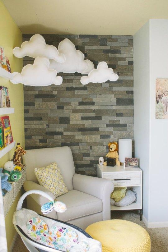 10 Habitaciones de beb con paredes de ladrillo