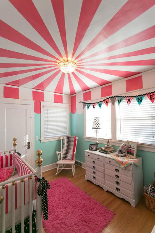 Techo decorado en la habitacin del beb  DECORACIN BEBS