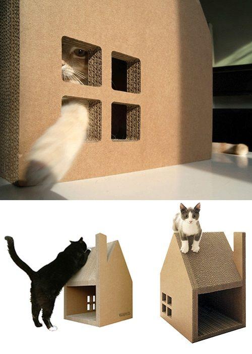 Casas de cartn 3 en 1 para gatos  Decoracion de INTERIORES