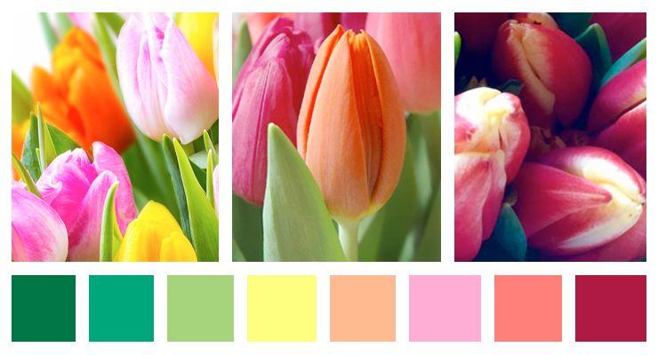 Paleta de colores primaveral  Decoracion de INTERIORES