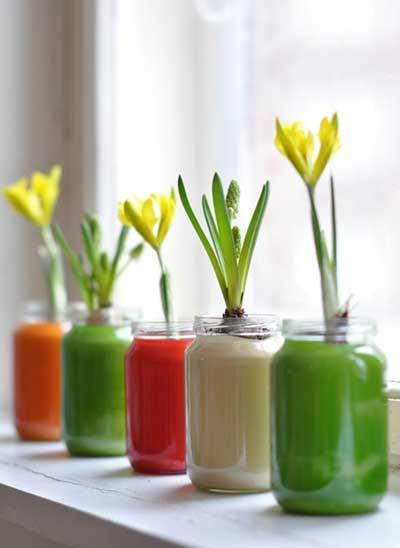 Decoracin de interiores con floreros de vidrio  Decoracion de Interiores