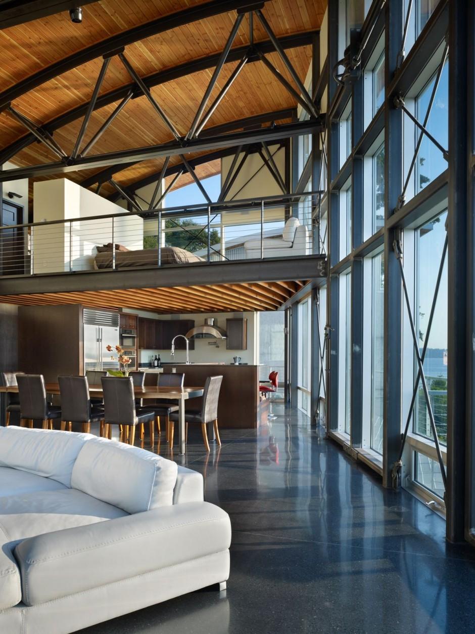 Diseo de interiores luminoso y arquitectura moderna