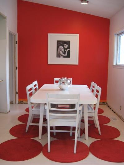Decoracin de interiores en color rojo  Decoracion de