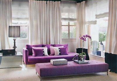 Decoracin de salas en color violeta  Decoracion de Interiores