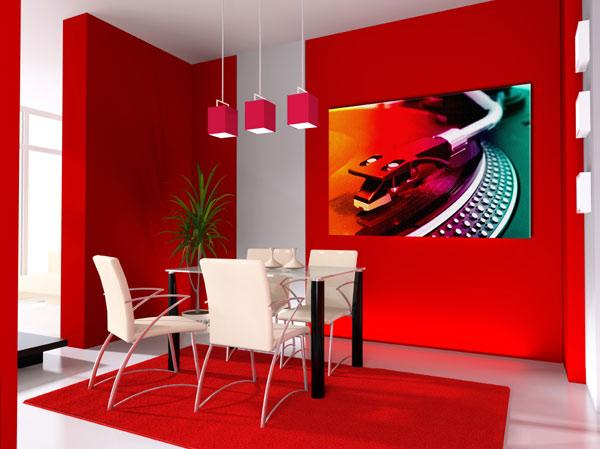 Decoracin de interiores con detalles en rojo  Decoracion