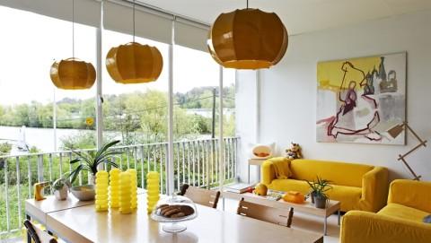Interiores modernos en color amarillo  Decoracion de