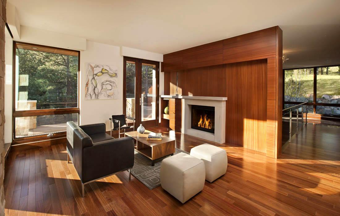 Diseos de interiores clidos en ambientes modernos