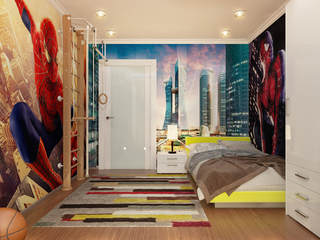 Dormitorio de Spiderman o el Hombre Araa  Decoracion de