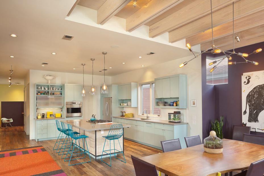 Ambiente integrado y moderno para un apartamento  Decoracion de Interiores