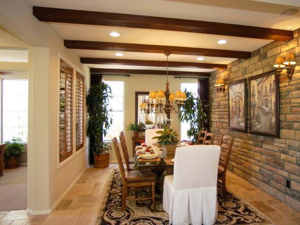Especial sobre comedores con paredes de piedra Parte III  Decoracion de Interiores