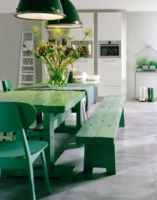 Decoracin de ambientes en color verde  Decoracion de Interiores