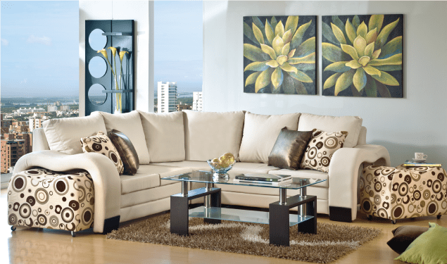 Salas modernas en colores clidos  Decoracion de Interiores