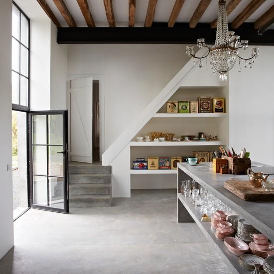 Decoracin de interiores con cemento pulido  Decoracion