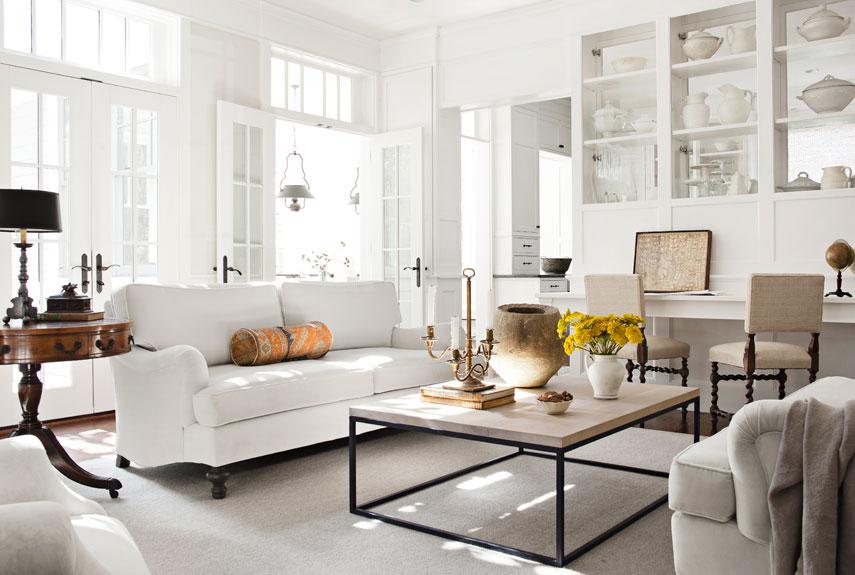 plush leather chair personalized folding stadium chairs delicados diseños de livings en color blanco (parte i)   decoracion interiores