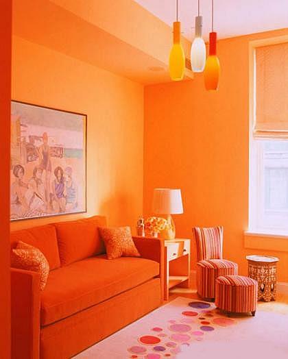 Decoracin en color naranja  Decoracion de Interiores