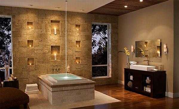 Ideas para la decoracin de interiores en piedra