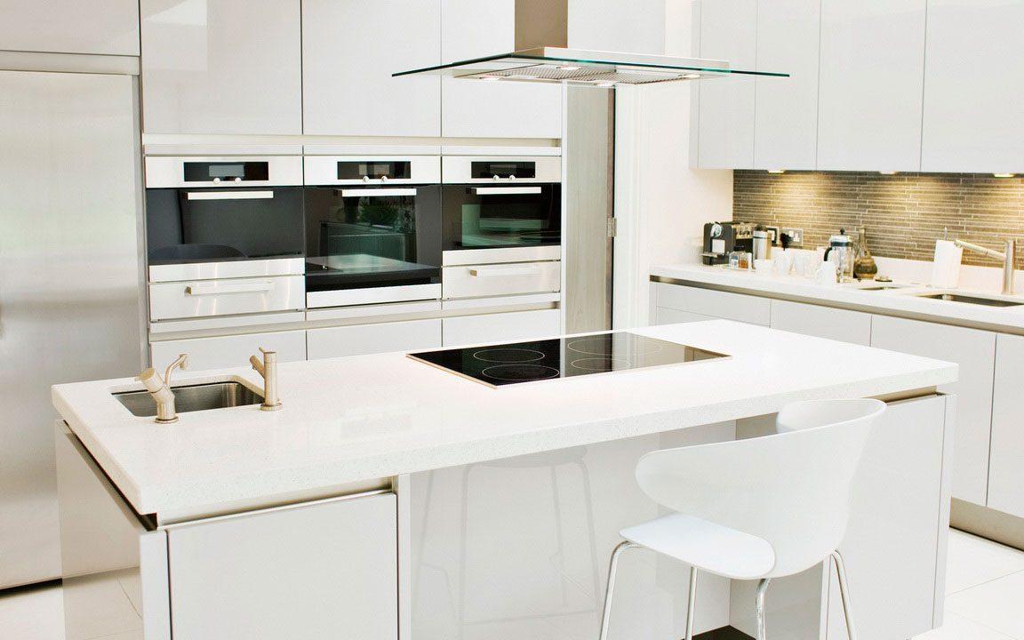 Cocinas modernas en color blanco  Decoracion de Interiores