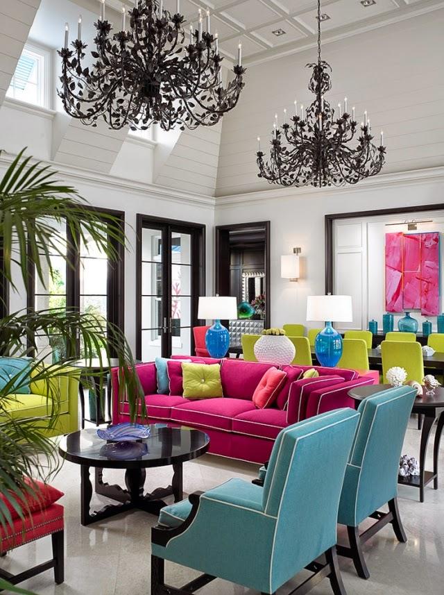 Ideas coloridas para decoracin de salas  Decoracion de